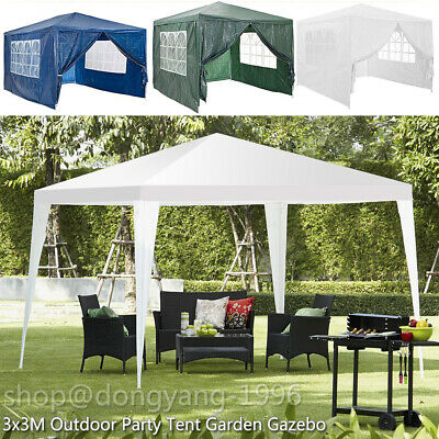 New 3x3x2.5M Party Tent Outdoor PE Garden Gazebo Marquee Canopy Awning UK