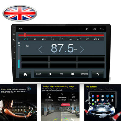 "Single 1Din 10.1"" Car Stereo Radio GPS WiFi BT DAB Mirror Link OBD Android 8.1"