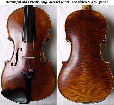 OLD GERMAN VIOLIN F. A. MEISEL 1888 - see video ANTIQUE MASTER バイオリン скрипка 357