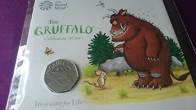 2019 The Gruffalo 50p Coin BUNC Royal Mint Pack Sealed ** NEW & MINT **