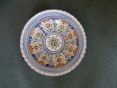 Large Spanish Ceramic Glazed Wall Charger diameter 43 cm