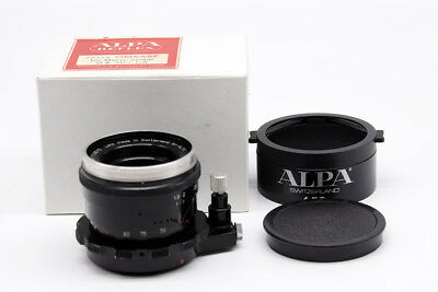 Ex++ ALPA APO KERN-MACRO-SWITAR 50mm f/1.9 AR Black Paint w/Original Lens Hood