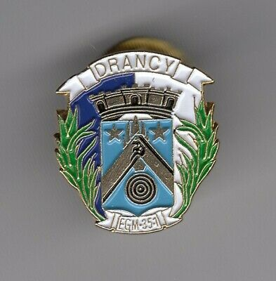 Rare Pins Pin's .. Gendarmerie Nationale Egm 35/1 Blason Or Drancy Idf 93 ~En