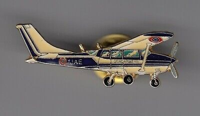 Rare Pins Pin's .. Gendarmerie Nationale Air Aerien Avion Plane Cessna 206  ~En