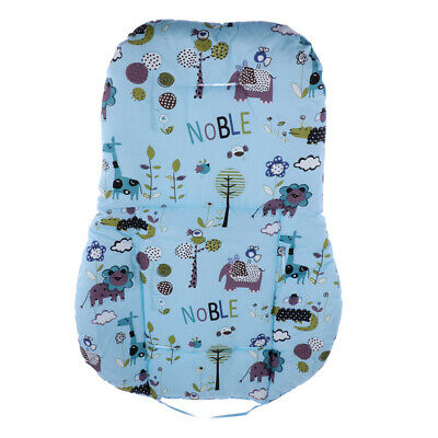 Baby stroller seat cushion soft cotton pad high chair thick mat blue