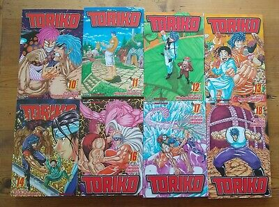 Toriko Manga Volumes 10 - 18 (Missing 15) Shonen Jump Bundle