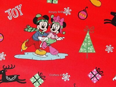 "1 yard  Disney /""Mickey  Fun with Friends/""  Fabric"