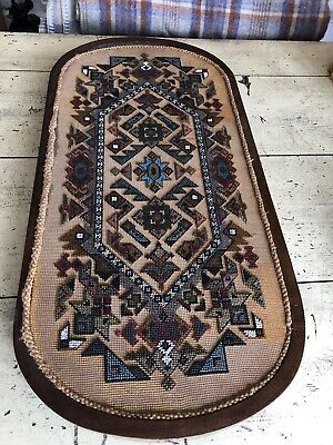 Antique Victorian Bead Work Tray Dressing Table Stand