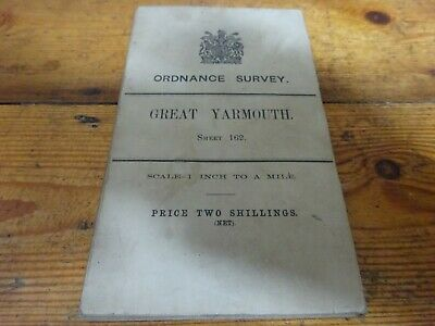 vintage cloth ordnance survey map of great yarmouth