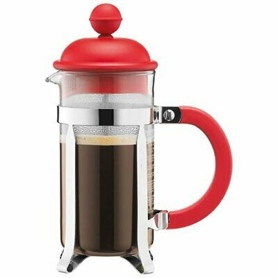 Bodum - 1913-294 - Caffettiera - Cafetière à Piston - 3 Tasses (0,35 L|Rouge)