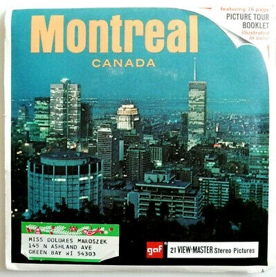 3x VIEW MASTER REEL / MONTREAL / QUEBEC / CANADA / + BOOKLET / A 051 / VERY RARE
