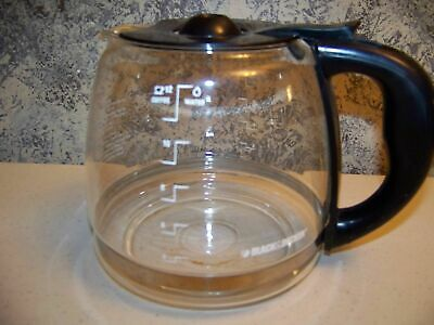 BLACK & DECKER 12 C automatic coffee maker replacement carafe flip top teardrop