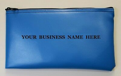Personalized Business Bank Deposit Bag Printed Custom Money Bag Zipper Wallet
