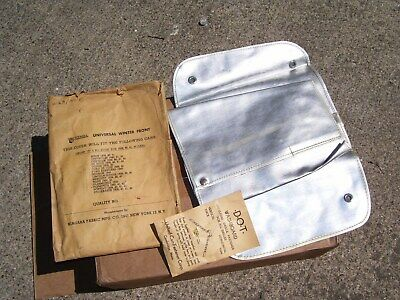 Vintage 1939-42 Automobile Winter radiator grille cover nos original GM chevy