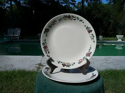 Pair Of Corelle Garden Home Bird House Dinner Plates - Discontinued Pattern