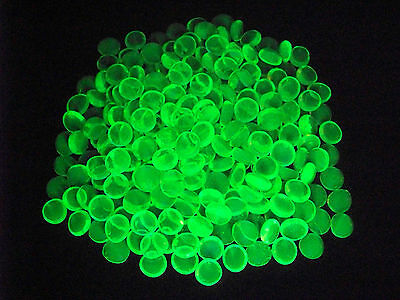 10 YELLOW VASELINE URANIUM GLASS LUCKY ROCK GEMS GLOWS          (( id198955