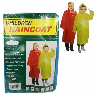 Childrens Waterproof Rain Coat Jacket Storm Brea Kids Boys Girls Child Raincoat