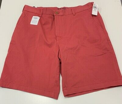 IZOD Saltwater Men/'s Relaxed Classic Stretch Washed Chino Shorts MSRP $49