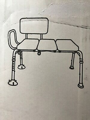 Medical Padded Seat Transfer Bench Bath Tub Shower Bench Mobility NEW