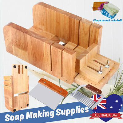 Wooden Handle Soap Cutter Butter Cheese Mould Loaf Beveler Planer Box Wave Block