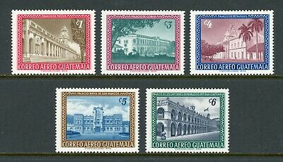 Guatemala Scott #C274-C278 MNH Buildings $$