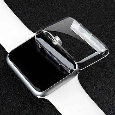 For Apple Watch Series 4 44mm/40mm Soft TPU Screen Protector Cover IWatch Case