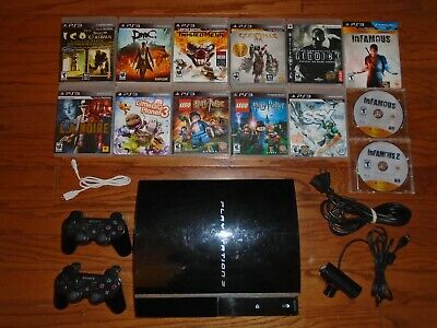 Sony PlayStation 3 500gb console with 14 great games! God of War PS3