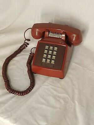 """Western Electric RED Desk Top Telephone """"BAT PHONE"""" Touchtone Push Button"""