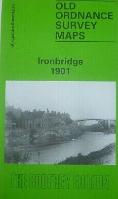Old Ordnance Survey Maps Ironbridge  Shropshire 1901  Godfrey Edition New