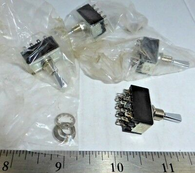 Lot Of Mini (Mom)On/Off/On(Mom) 4Pdt Flat Paddle Toggle Switches A