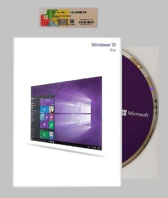 Microsoft Windows 10 Pro 64 Bit COA /OEM Sticker und  DVD