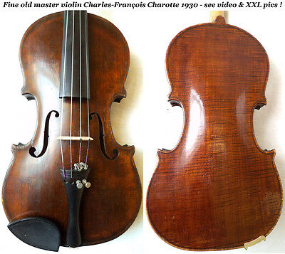 FINE OLD FRENCH MASTER VIOLIN CHAROTTE 1930 video ANTIQUE バイオリン скрипка 小提琴 540