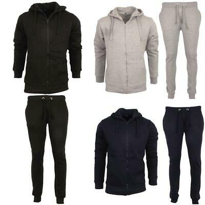 New Mens Fitness Top Bottom Sports Full Set Hooded Hoodie Jogging Gym Tracksuits