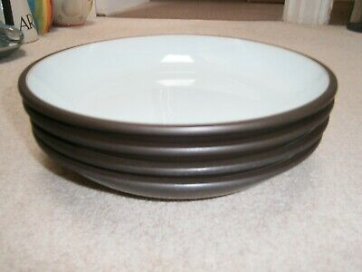 4 Lovely Stylish Denby Sienna Pasta Bowls In Great Condition