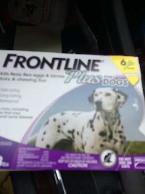 Frontline Plus for Dogs 6 Doses 45 to 88 lbs. Kills Fleas & Ticks