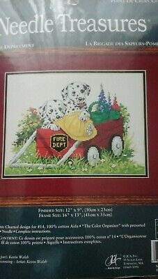 Needle Treasures   Cross stitch kit -The Fire Department 04660