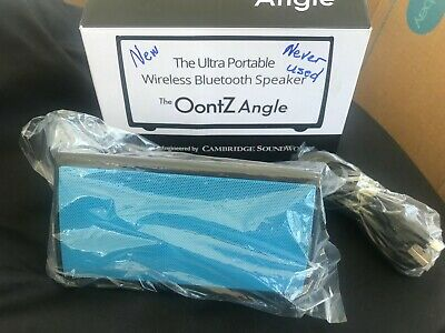 NIB The OontZ Angle Ultra Portable Wireless Bluetooth Speaker Blue (A057)
