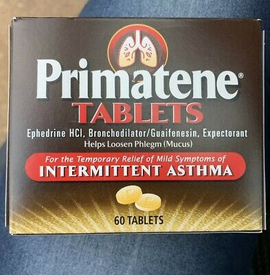 NEW PRIMATENE 60 TABLETS ASTHMA/ALLERGY RELIEF New in Box Exp 2020