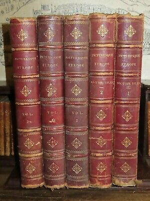 1880 PICTURESQUE EUROPE with 65 STEEL ENGRAVED PLATES ITALY SPAIN POLAND RUSSIA