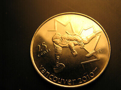 Canada 2007 Vancouver 2010 Olympics Ice Curling 25 Cent Mint Coin.