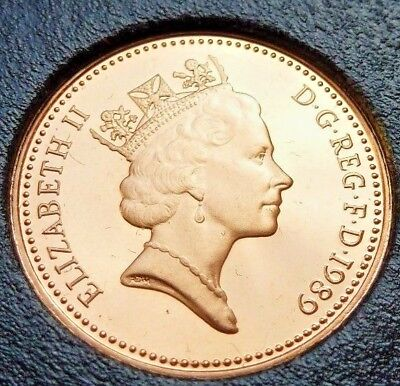 1989 PROOF ENGLISH DECIMAL ONE PENCE 1p COIN COIN HUNT (87)