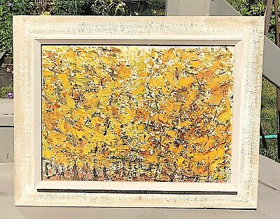 Canadian Abstract Oil Painting by Lucienne Craig Fort Chambly Quebec 1962
