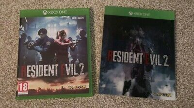 RESIDENT EVIL 2 - XBOX ONE. Mint + 99p!! Limited edition hologram case