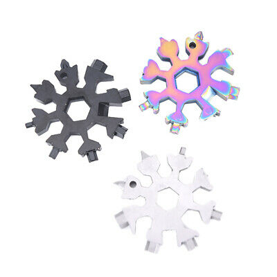 EDC Tool 18-in-1 Multitool Card Combination And Portable Snowflake EDC Tool CarC