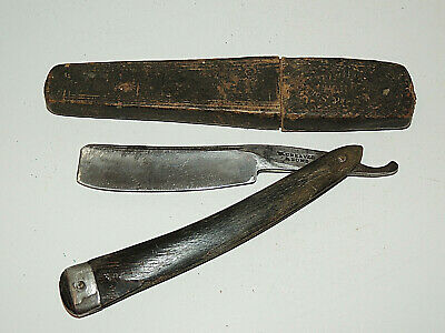 """Antique Vintage Older W. Greaves & Sons Straight Razor, with Box, 7/8"""" Blade"""