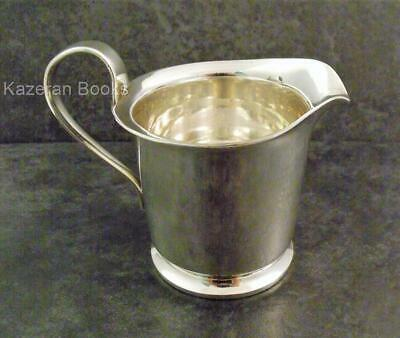 Chunky Vintage Silver Plated Milk Cream Pouring Jug By Viners