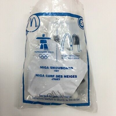 2010 Vancouver Olympic Mascot Miga Snowboard McDonald's Canada Happy Meal Toy