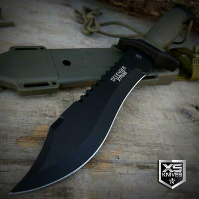 "12"" SURVIVAL Tactical BOWIE Hunting FIXED BLADE Knife + SHEATH Military Combat"