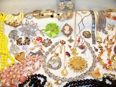 Huge 55 Pc Beautiful Vintage & Not So Old Quality Jewelry LOT Good Stuff