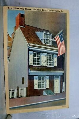 Pennsylvania PA Philadelphia Betsy Ross Flag House Postcard Old Vintage Card PC